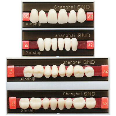 Full Mouth A2 Shade Dental Synthetic Resin Teeth Denture Tooth False all Types..