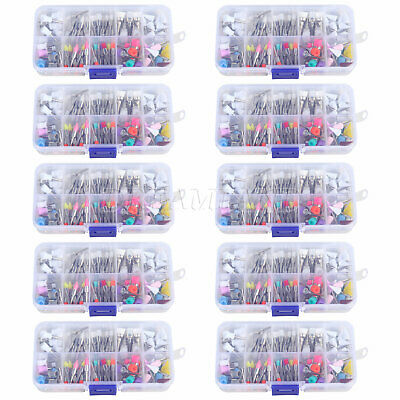 10PACK Dental Prophy Brush Cup Rubber Disposable Polishing Latch M2 Mixed Color