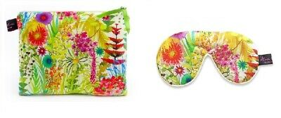 Luxurious Tresco Multi Liberty Fabric Travel Pouch and Eye Mask