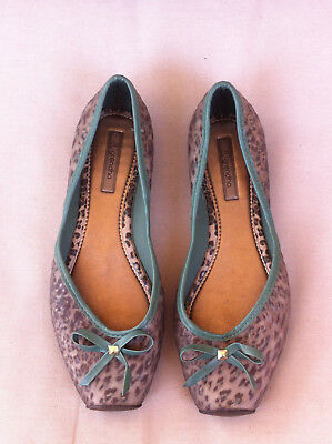 Grendha Green/Brown Leopard Print Rubber Flats  Size: 8Us/39Eur Near New