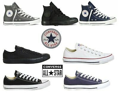 CONVERSE Chuck Taylor All Star Unisex Low & High Canvas- Mens Womens Trainers