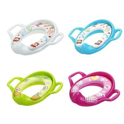 Baby Travel Potty Training Seat Portable Toilet Seat Kids Safety Cushion  #S5