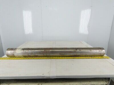 """Dematic 4"""" OD 41"""" BF 41"""" Crowned Face Conveyor Belt Pulley"""