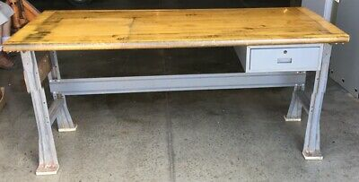 """Butcher Block Industrial Work/Dining Table 72"""""""