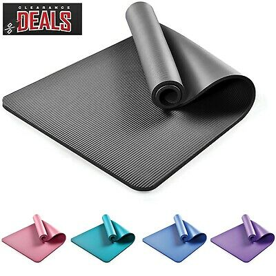 Large Exercise 15mm Thick Yoga Mat NonSlip Gymnastic Training Fitness Workout