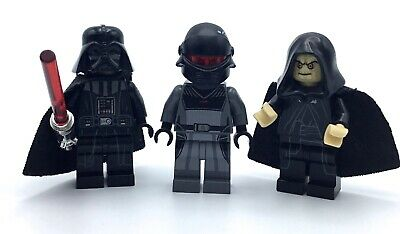 Lego Lot Of 3 Star Wars Minifigures Sith Lord Darth Vader Emperor Palpatine Figs