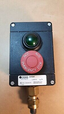 CEAG GHG41 Safe Push Button Control Switch Emergency Stop 690v ac 16 amp GHG 41