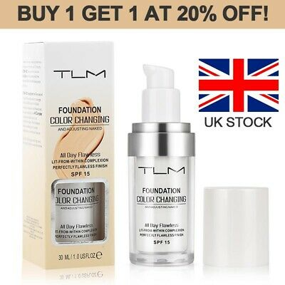 TLM Makeup Change Skin Tone Concealer Magic Flawless Color Changing Foundation