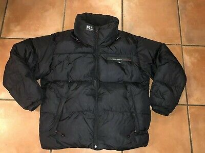 VTG 90s Polo Jeans CO. Ralph Lauren Puffer Winter  Down Black Jacket Mens XXL