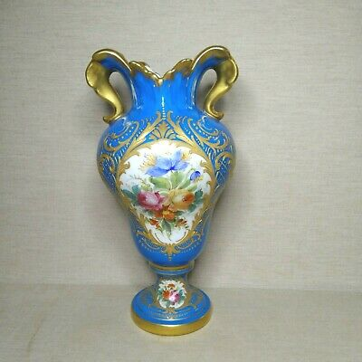 Antique European, French porcelain Sevres vase, 19th-20th century. There stamped