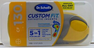 NEW Dr. Scholl's CF130 Custom Fit Orthotic Inserts 5 in 1 Pain Relief