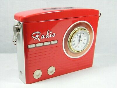 A Quartz Clock made from Reproduction Radio Tin, with storage too !!