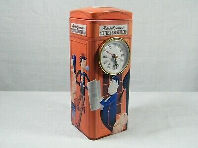 A Quartz Clock made from Reproduction Tin of the  Red Telephone Box, Superb !!!