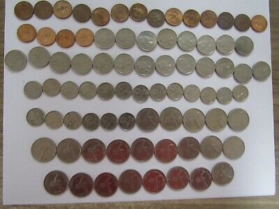 Lot of 79 Different Bermuda Coins - 1970 to 2008 - Circulated