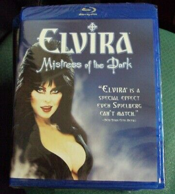 ELVIRA: MISTRESS OF THE DARK BLU-RAY SEALED widescreen horror-comedy RLJE