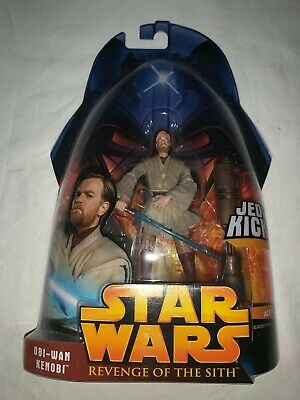 2005 Star Wars Revenge of the Sith Obi-Wan Kenobi #27 Jedi Kick figure