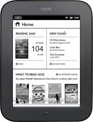 Barnes & Noble Nook Simple Touch GlowLight 2GB, Wi-Fi, 6in - Black