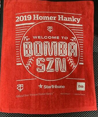 2019 MINNESOTA TWINS Homer Hanky BOMBA SZN Red Rally Towel * Fast Delivery*