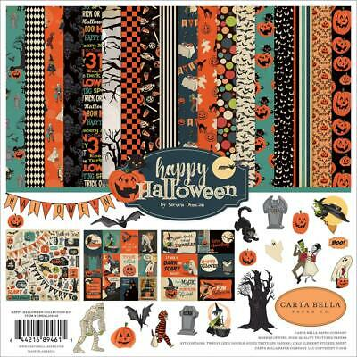 "Carta Bella 'HAPPY HALLOWEEN' 12"" Collection Paper Pack + Stickers 2019"