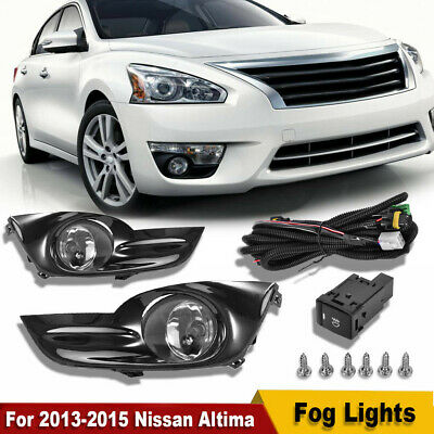 For 2013-2015 Nissan Altima Sedan 4Dr Clear Fog Lights Lamps Kits Switch+Harness