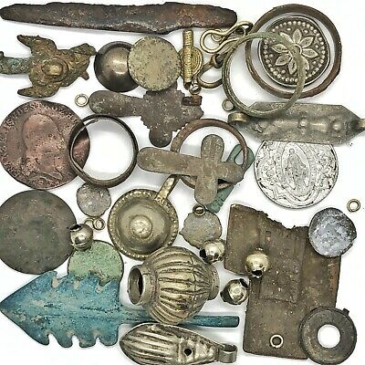 Medieval Byzantine & Post Middle Ages Artifacts Lot Cristian Cross Amulet Old 1