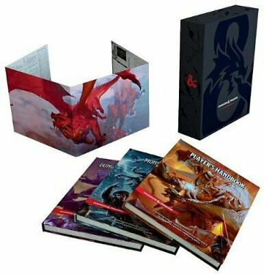 NEW Dungeons & Dragons Core Rulebooks Gift Set (Special Foil Covers Edition with