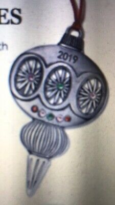 Avon Collectible 2019 Vintage Inspired Pewter Ornament NIB