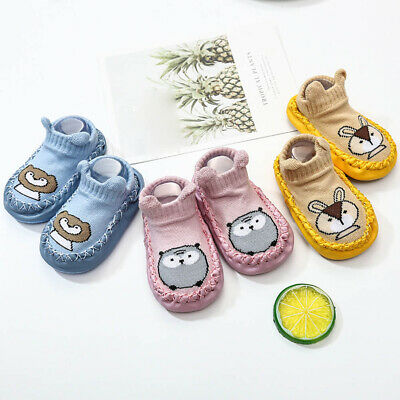 Baby Girl Boy Toddler Cartoon Sock Shoes Anti-Slip Floor Slipper Socks Prewalker
