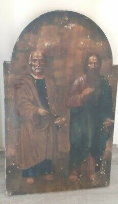 Antique Russian Large Icon Apostle Jacob and Apostle Peter 19th century.