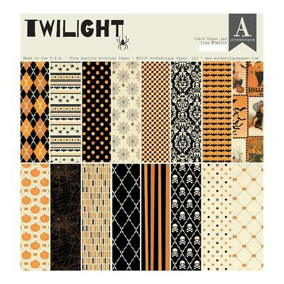 "Authentique 'TWILIGHT' 12"" Paper Pad (18 sheets) Halloween 2019 Scrapbooking"