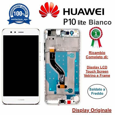 Display LCD con Touch Screen e Frame Originale P10 Lite WAS-LX1A Bianco HUAWEI