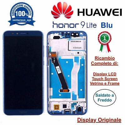 Display LCD Touch Screen Middle Frame Originale HUAWEI Honor 9 Lite LLD-L31 Blu
