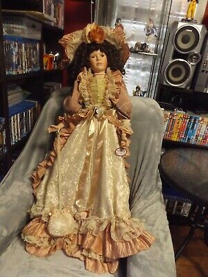 Emily Lovely Big Classic Lady Porcelain Vintage 2 /Half Feet Tall Doll.