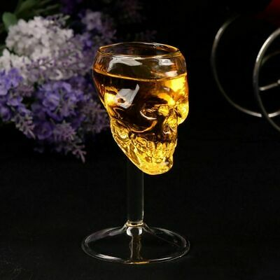 Skull Bar Shot Glass Head Vodka Whiskey Cup Drinking Crystal Ware Clear Skeleton