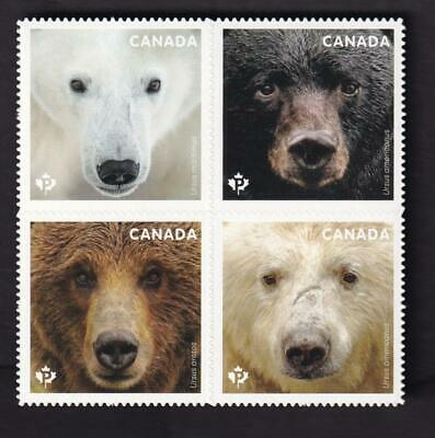 Canada MNH QP die-cut pane from booklet, 2019 Bears of Canada
