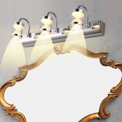 Bathroom Front Mirror 3 LED Light/Lamp Wall Mounted Makeup Fixture Warm White