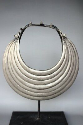 Chinese antique Collection Ethnic  Miao Silver Handmade Seven laps Necklace