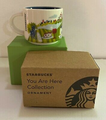 Starbucks FRANCE Ornament Mug Demi You Are Here Christmas YAH 2oz NEW IN BOX