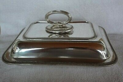 vintage / antique Silver Plate  Entree Serving Dish mappin& webbs