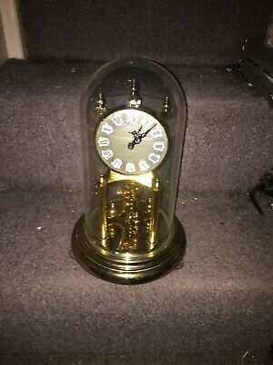 "Vintage Large 12"" German Kundo  Day Anniversary Domed Clock -battery"