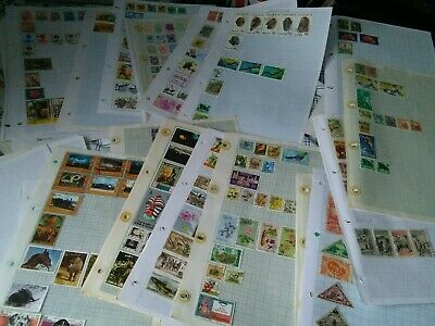 JOBLOT WORLD STAMP ALBUMS PAGES & Folders VARIOUS  COUNTRIES   300+ pages