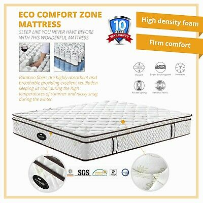 Premium Quality Cushion Eco Comfort Zone Body Support Easy Care Soft Mattress