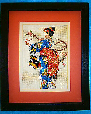 """Dimensions Finished Framed Cross Stitch """"Geisha Mai"""" Tapestry Craft Gift"""