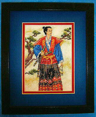 """Dimensions Finished Framed Cross Stitch """"Samurai"""" Tapestry Craft Gift"""
