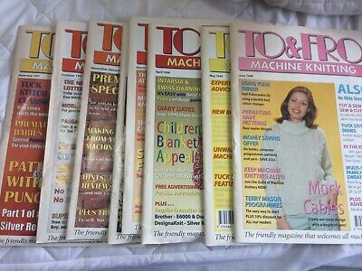 To & Fro Machine Knitting September 1997 to June 1998 Magazines