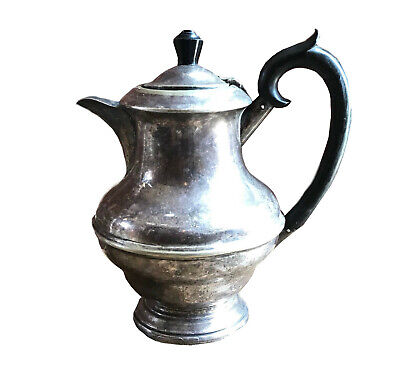 Antique Vintage Silver Plated Coffee Pot Tea Pot  English Lidded Pitcher Jug