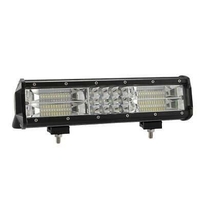 12 inch 180W LED Bar Work Light Triple Row Flood Spot Combo Off-road Lamp