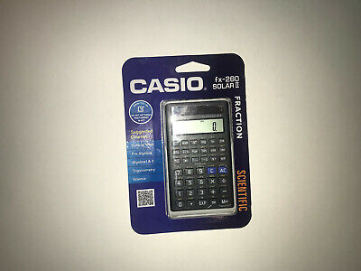 NEW Casio FX 260 Solar Fraction Scientific Calculator With Cover Math Collage