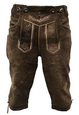 "Lederhosen Leather Mens Trachten Oktoberfest Uk 36"" Pashi-1020"