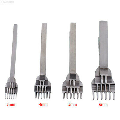 2015 3/4/5/6 Leather Craft Hole Punche Lacing Stitching Punch Tool 1-10 Prong